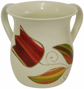 Lily Art Stainless Steel Wash Cup Colorful Flower Design