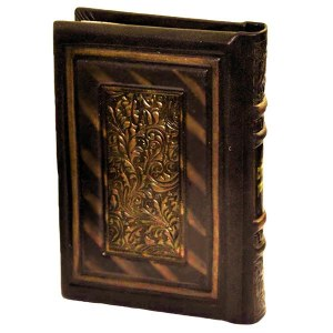 Antique Leather Tehillim Brown and Bronze