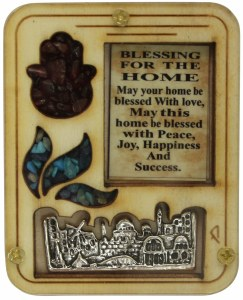 Blessing for the Home English Wooden with Cut Out Shapes