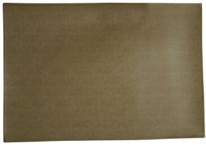 "Rectangle Vinyl Placemat Gold Colored 13"" x 19"""