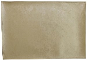 "Rectangle Vinyl Placemat Gold Marble Design 13"" x 19"""