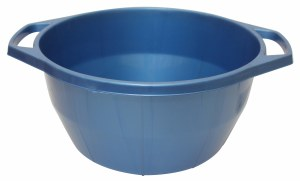 Plastic Wash Bowl with Handles Light Blue