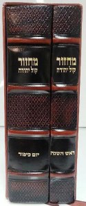 Machzor Orot Leather Antique 2 Volume Set
