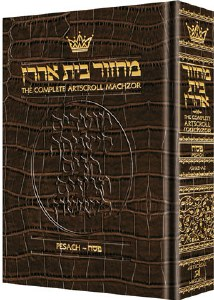 Artscroll Pesach Machzor - Alligator Leather - Ashkenaz