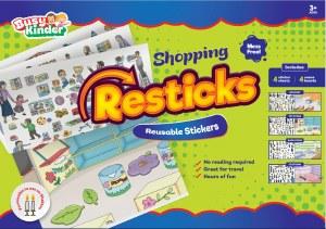 Reusable Stickers Shopping Theme