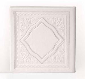 Birchas Hamazon Square Diamond Design White Ashkenaz [Hardcover]
