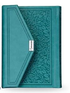 Siddur Eis Ratzon with Tehillim Magnetic Closure Turquoise Ashkenaz