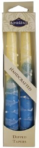 """Safed Taper Candles 2 Pack 10"""" - Classic Turquoise"""