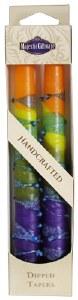 "Safed Taper Candles 2 Pack 10"" - Rainbow Orange"