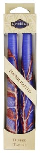 "Safed Taper Candles 2 Pack 10"" - Double Tree Blue"