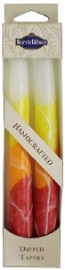 """Safed Taper Candles 2 Pack 10"""" - White Yellow"""