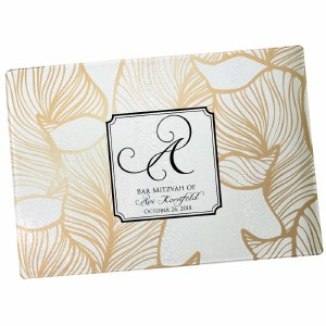 Custom Challah Board Leaf Design
