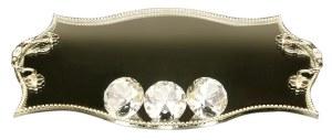 "Candlesticks Tray Mirror and Crystal Elegant Design 10"" x 14"""