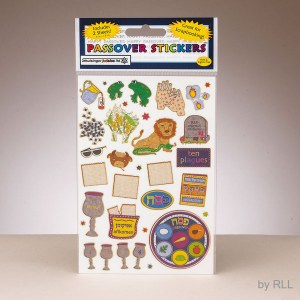 Passover Glitter Fabric Stickers