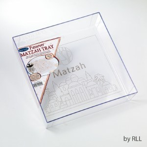 Square Acrylic Matzah Tray Elevated Sides