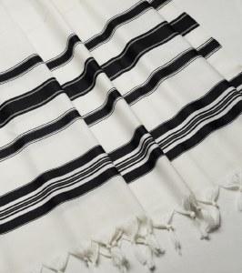 "Viznitz Tallis Traditional Wool Size 70 Bli - Tallis without Strings 60"" x 72"""