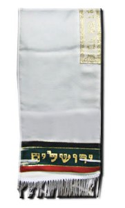 "Tallis Aviv Jerusalem City of Peace Bris Size Earthtone Colors 7"" x 36"""