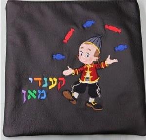Tallis Bag Black Velvet Koppele Candy Man Design