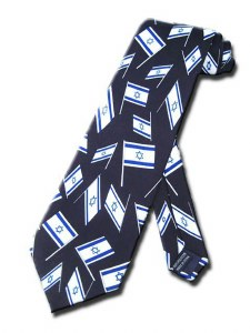 Necktie with Mini Israeli Flags