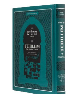 Weiss Edition Tehillim Hebrew English Turquoise [Hardcover]