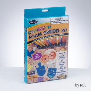Do It Yourself Foam Dreidel Kit Makes 12 Dreidels