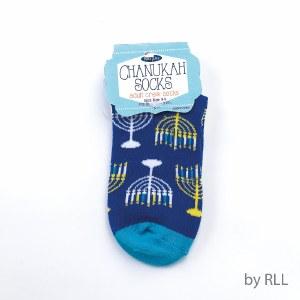Chanukah Crew Socks Menorah Design Adult Size 9-11