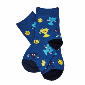 Chanukah Crew Socks Menorah Design Kids Shoe Size 1-5