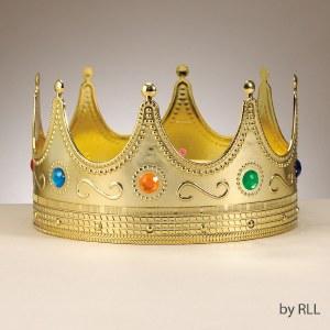"Jeweled Purim Crown 8"" Large Size 1 piece Purim Costume Accessory"