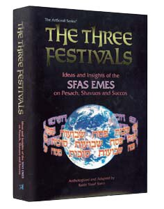 The Three Festivals: Ideas and Insights of the Sfas Emes on Pesach, Shavuos and Succos [Hardcover]