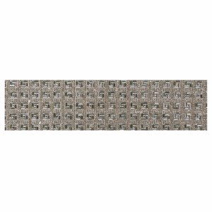 "Atara Set with Stones Intricate Squares Design 3.5"" x 36"""