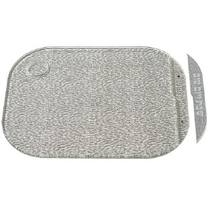 """Challah Tray Acrylic Silver with Matching Knife 11"""" x 14.5"""""""