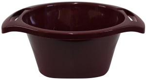 Plastic Wash Bowl Maroon