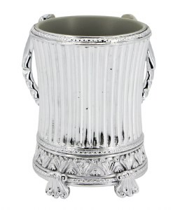 Metallic Coated Acrylic Washing Cup Silver Colored