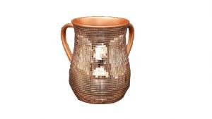 Acrylic Washing Cup Mini Mirror Copper Tiles