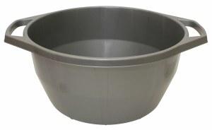 Plastic Wash Bowl with Handles Grey