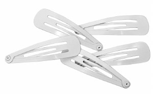 White Yarmulka Clips 12 Pack