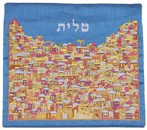 Tallis Bag Multicolored Embroidered Intricate Jerusalem Design by Yair Emanuel