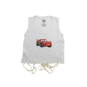 Undershirt Tzitzis Cotton with Silk Screened Car Design Size 2