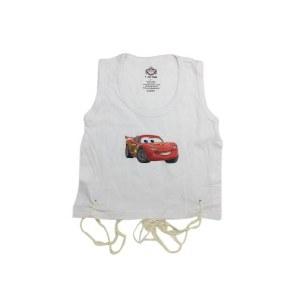 Undershirt Tzitzis Cotton with Silk Screened Cars Design Size 3