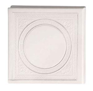 Birchas Hamazon Square Circle Design White Ashkenaz [Hardcover]