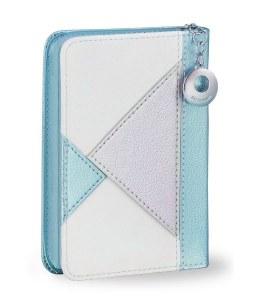 Complete Siddur Eis Ratzon and Tehillim with Zipper Blue Triangle Design Faux Leather Sefard