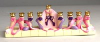 Candle Menorah Ballet Hand Painted by Jessica Sporn