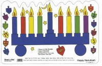 Happy Hanukkah Read a Mat Placemat