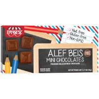 Milk Chocolate Alef Beis Mini Chocolates Cholov Yisroel