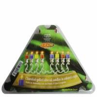 EZ Lite Prefilled Gelled Olive Oil Vials Medium Size Colored Cups 2.5 Hour Burntime 44 Pack