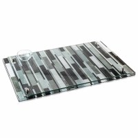 "Lucite Challah Board Mosaic Design Gray 11"" x 16"""