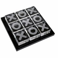 Lucite Tic Tac Toe Black Tray