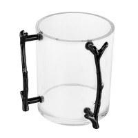 MetaLucite Washing Cup Twig Design Handles Black