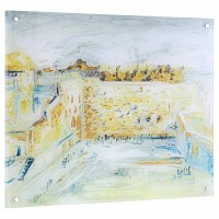 """Lucite Kosel Wall Hanging Hand Painted Artwork 28"""" x 24"""""""