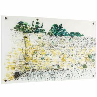 """Lucite Kosel Wall Hanging Hand Painted Artwork 14"""" x 20"""""""